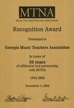 GMTA 50 Year Award